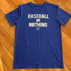 Youth XL baseball or nothing Under Armour